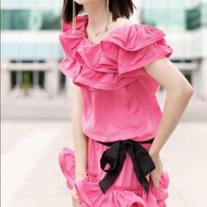 Lanvin x H&M Pink Ruffle Mini Dress